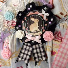 Handmade bunny rosette - Madillustration