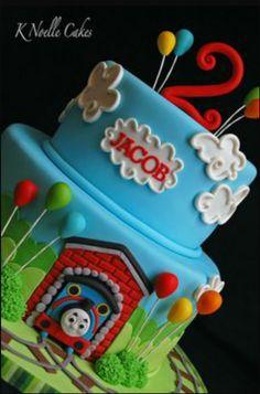 2 tier Thomas cake