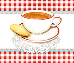 Cup of Tea and Red Gingham