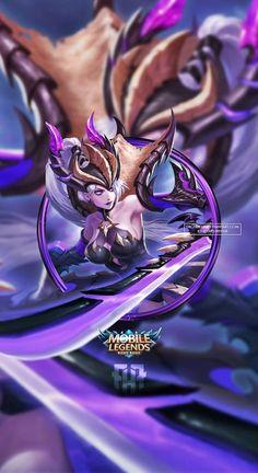 Wallpaper Phone Freya Dragon Hunter by FachriFHR League Of Legends Logo, Dark Rose, Dragon Hunters, Freya, Mobile Legend Wallpaper, The Legend Of Heroes, Poker Online, Mobile Legends, Videogames