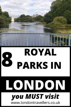 Hyde Park. Green Park. Kensington Gardens. Bushy Park. Richmond Park. Greenwich Park. Regent's Park. St. James' Park. They all have one thing in common. They used to be recreational and hunting grounds for the royal family since the 14th Century. Now, it's for the public to enjoy beautiful colourful flowerbeds, lakes overlooking Buckingham Palace and the London Eye,   and wildlife such as deer. 8 Royal Parks of London | Royal Parks | Parks #royalparks #londonparks #parks #londonattractions Free London Attractions, Duck Island, Greenwich Park, Richmond Park, Royal Park, Green Park, Tourist Places, London Eye, Hyde Park
