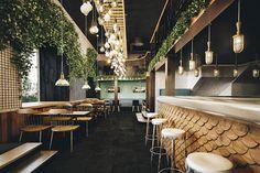 67 Ideas Furniture Design Restaurant Interiors For 2019 Cafe Restaurant, Smoke Restaurant, Restaurant Lighting, Cafe Bar, Modern Restaurant, Restaurant Branding, Industrial Restaurant, Decoration Restaurant, Restaurant Interior Design