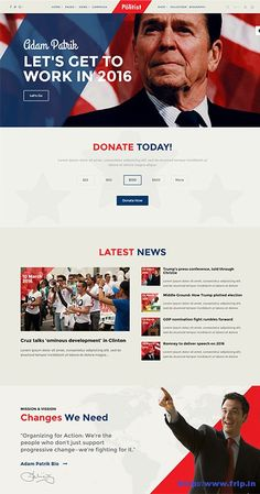 Election Website Templates. 15 political php themes templates free ...