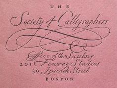William Addison Dwiggins, Envelope for the (imaginary) Society of Calligraphers, Boston. 1920s.