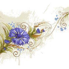 cornflower ankle tattoo - Google Search