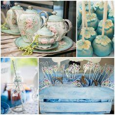 Vintage Cinderella Party with Lots of Cute Ideas via Kara's Party Ideas   KarasPartyIdeas.com #CinderellaParty #DisneyPrincessParty #PartyId...