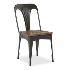 Set of 2 Metal Cafe Chairs