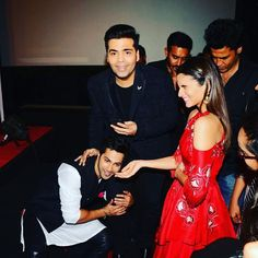 @shashankkhaitan trying to hide in the background. @karanjohar in shock with my behaviour and @aliaabhatt laughing that's how we