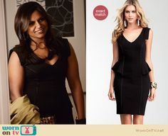 Mindy will be wearing this black peplum dress on this week's Mindy Project, it is on sale for $98.99 http://wornontv.net/10227
