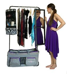Dance Bag With Garment Rack Mesmerizing Pack 2 Rack Rolling Foldable Dance Bagfuchsia 2  Baton  Pinterest