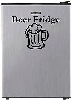 """#""""beer fridge"""" #vinyl decal refrigerator sticker dorm man cave mini #garage wall, View more on the LINK: http://www.zeppy.io/product/gb/2/121461800321/"""