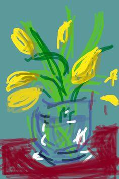 David Hockney (English ) Untitled, 91 2009 iPhone drawing Collection of the artist © David Hockney / Art Blart David Hockney Ipad, David Hockney Art, David Hockney Paintings, Iphone Drawing, Gravure Illustration, Pop Art Movement, Ipad Art, Linocut Prints, Art Plastique