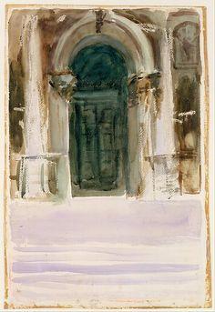 John Singer Sargent | Green Door, Santa Maria della Salute ca 1904 | The Met