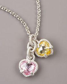 Y0KUS Judith Ripka Heart Charm Necklace