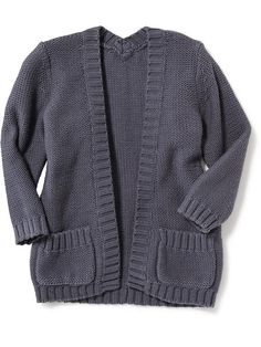 Relaxed Open-Front Cardigan for Baby