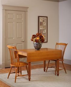 Amish Rectangular Drop Leaf Dinette Table   Dining Chairs, Room And Kitchen  Redo