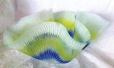Kiln formed glass enamel sculpture by Joe Drury