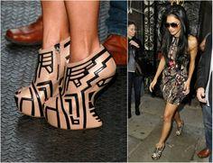 Celebrity Shoes, Celebrity Style, Stylish Name, Cheap Heels, Nicole Scherzinger, The Struts, Fashion Brand, Product Launch, Platform