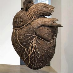 This heart of wood is a heart of gold. Pure gold. Created by Dmitri Tsykalov #designspiration #art #sculpture - View this on https://www.instagram.com/Designspiration/