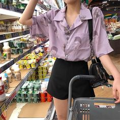 Check out this Awesome korean fashion trends korean fashion Retro Outfits, Vintage Outfits, Cool Outfits, Summer Outfits, Casual Outfits, Vintage Fashion, Look Fashion, 90s Fashion, Fashion Outfits