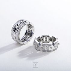 Rockford Collection is official American brand of unique gold men's wedding bands and diamond mens rings. Black Diamond Bands, Diamond Wedding Bands, Halo Diamond, Wedding Rings, Jewelry Accessories, Jewelry Design, Gold Cushions, Moissanite Diamonds, Halo Engagement