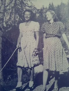 Loving Eva Braun's shoes here in the bottom photo. This is Eva and her best friends, Herta Schneider in 1944.
