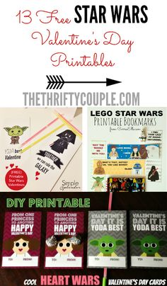 Looking for the best Star Wars Valentines ideas on Pinterest? Look no further! We've rounded them all up here in this one easy spot. There are so many cute Valentine's Day cards, decor and ideas all with a Star Wars Theme. Plus lots of free printables for the Valentine celebrations!