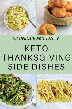 23 Keto side dishes to make any keto holiday feast tastier and better for you! From classic side dishes to unique keto recipes, your keto Thanksgiving can be tasty! Click now for these tasty keto recipes and other keto meal ideas! Thanksgiving Side Dishes, Thanksgiving Recipes, Holiday Recipes, Christmas Recipes, Christmas Sweets, Easter Recipes, Keto Thanksgiving Dinner, Holiday Side Dishes, Thanksgiving Traditions