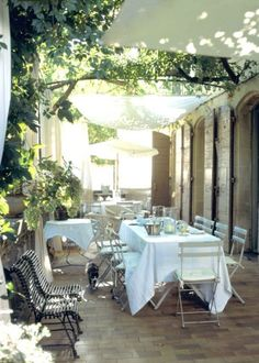 French style outdoor patio