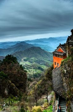 The Wudang Mountains consist of a small mountain range in the northwestern part of Hubei, China, just south of Shiyan. They are home to a famous complex of Taoist temples and monasteries associated with the god Xuan Wu.