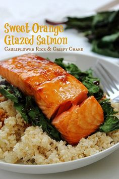 Ginger Orange Honey Glazed Salmon! Heaven on a plate! #paleo #fish #simplesupper