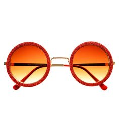 #cool #indie #hippie #red #glitter #retro #vintage #fashion #style #gold #metal #round #sunglasses #unique