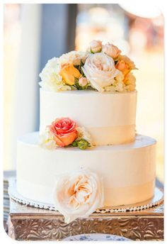 simple for a small wedding- but i like the frosting look instead of the hard fondant- gives it more a rustic appeal