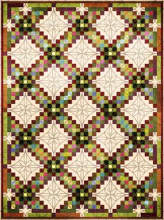 Love the quilting pattern and border for this triple irish chain!