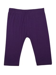 Kids - Girls Leggings 3/4th (Capri) Viscose Lycra Dark Purple  #womenstops #deals #womensfashion #skirts #demoza #palazzo #tops #jogger #onlinefashion #indianblogger