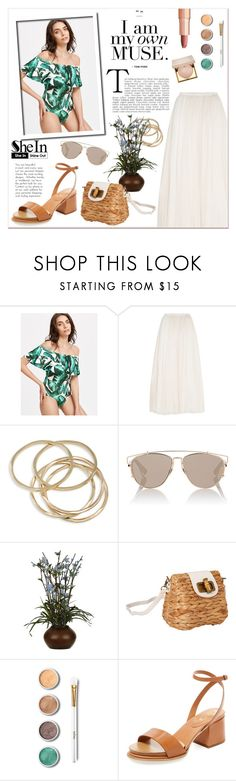 """""""Summer Vibes"""" by lady-of-rose ❤ liked on Polyvore featuring Needle & Thread, ABS by Allen Schwartz, Christian Dior, Sun N' Sand, Terre Mère, Tod's, Charlotte Tilbury and Stila"""