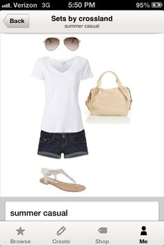 Simple outfit for summer