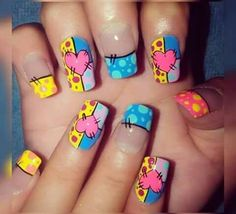 Nails For Kids, Girls Nails, Fun Nails, Summer Acrylic Nails, Best Acrylic Nails, Summer Nails, Cruise Nails, Fingernails Painted, Luxury Nails