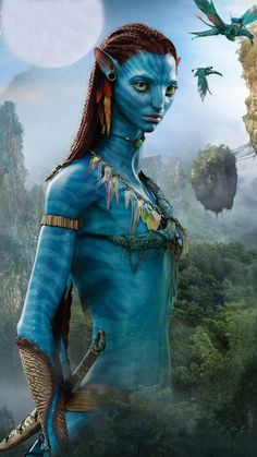 Avatar James Cameron teases the progress of the project and the next films Fantasy Creatures, Mythical Creatures, Avatar James Cameron, Wallpaper Bonitos, Avatar Fan Art, Avatar Poster, Stephen Lang, Avatar Movie, Avatar World