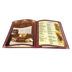 """20 Pcs 8.5""""x14"""" Menu Cover 4 Pages 8 Views Reinforce Corner Stitch Restaurant Cafe"""