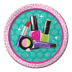 Sparkle Spa Party 9 Inch Icons Dinner Plate/Case of 96