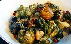 It's that time of year! The time to roast chestnuts, Brussels sprouts, and apples.