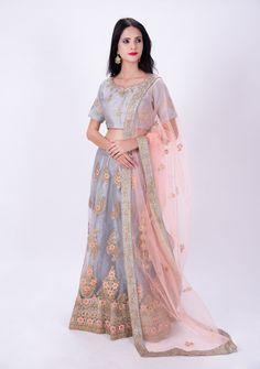 Lengha Choli Online, Lehenga Choli, Online Shopping Usa, Indian Lehenga, Ethnic, Contrast, Tulle, Neckline, Silk