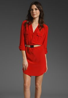 Cultivate LA Dress? HAUTE HIPPIE Double Pocket Dress with Belt in Tomato at Revolve Clothing - Free Shipping!