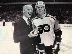 Gordie Howe with son Mark Howe | Philadelphia Flyers | NHL | Hockey