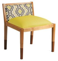 Riona Cotton Accent Chair, Yellow