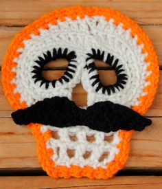 Skull crochet motif. Mix and match different colors by YUGUCU, $6.50