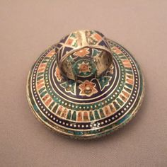 """The same ring with a picture showing all the refinement of the enamel work on the back of its body...www.halter-ethnic.com...see """"Rings"""""""