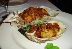 Claude on their shells, with a super-bold, garlicky, spicy dipping sauce. New Orleans Christmas, Oyster Recipes, Fried Oysters, Spicy Sauce, Recipe Of The Day, Fries, Steak, Dishes, Food