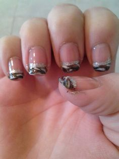 Camo French Tip Nail Designs